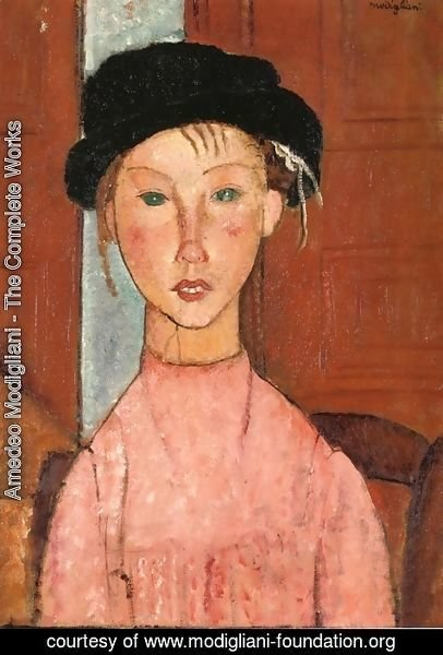 Amedeo Modigliani - Young Girl in Beret