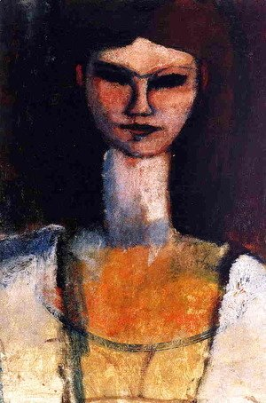 Amedeo Modigliani - Bust of a Young Woman