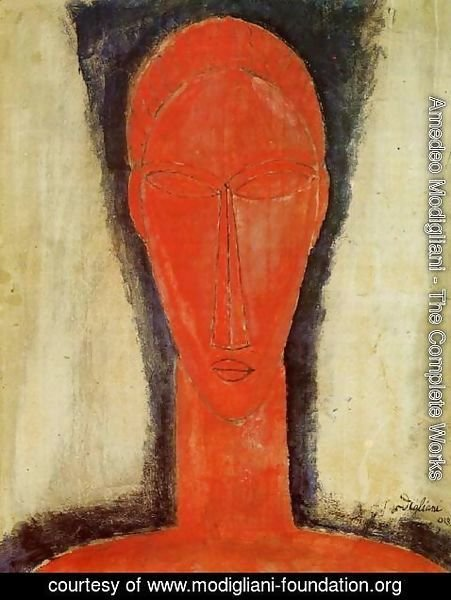 Amedeo Modigliani - Study of a Head