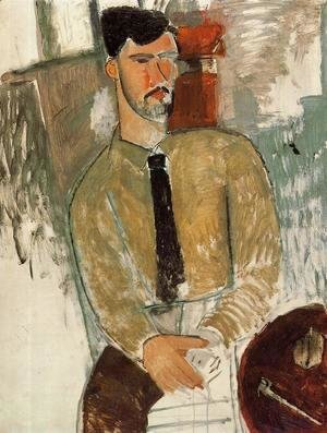 Amedeo Modigliani - Portrait of Henri Laurens I