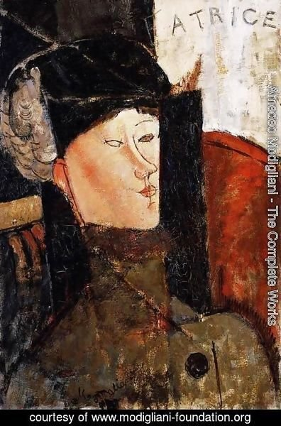 Amedeo Modigliani - Portrait of Beatrice Hastings III