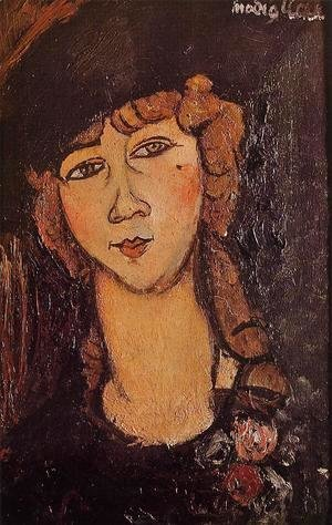 Amedeo Modigliani - Head of a Woman in a Hat