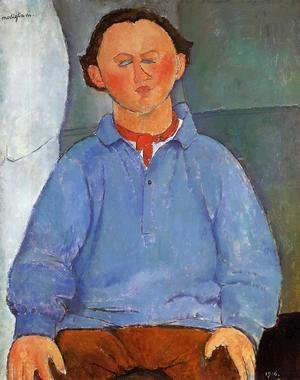Amedeo Modigliani - Portrait of Oscar Meistchaninoff