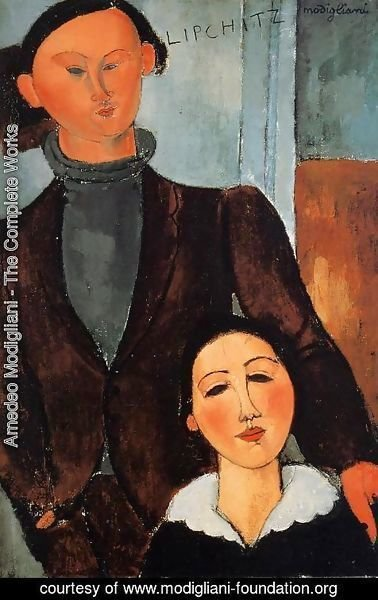 Amedeo Modigliani - Jacques Lipchitz and His Wife