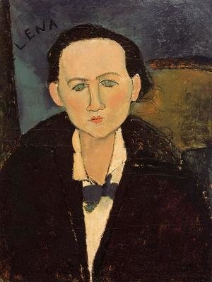 Amedeo Modigliani - Portrait of Elena Pavlowski I