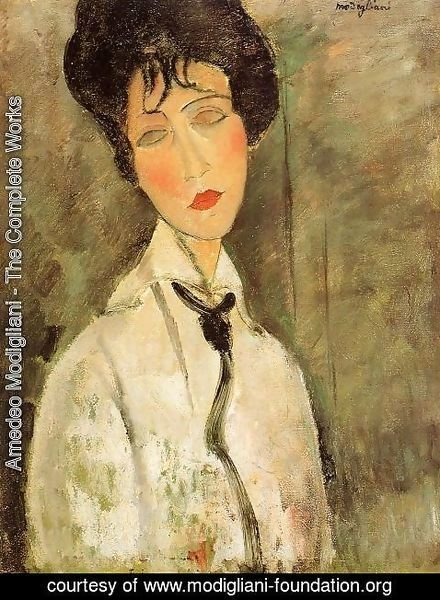 Amedeo Modigliani - Portrait of a Woman in a Black Tie