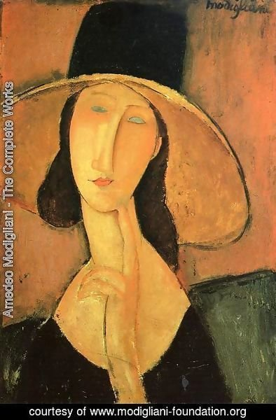 Amedeo Modigliani - Portrait of a Woman with Hat