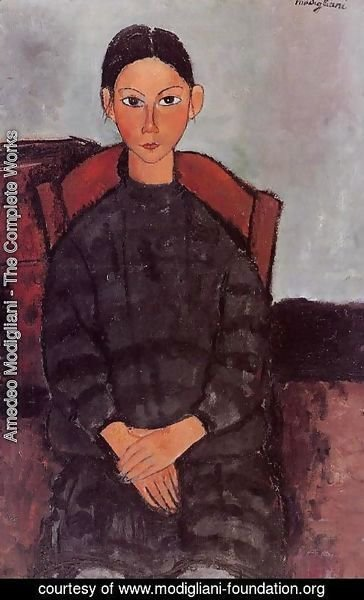Amedeo Modigliani - Young Girl in a Black Apron