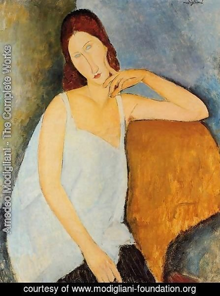 Amedeo Modigliani - Portrait of Jeanne Hebuterne II 2