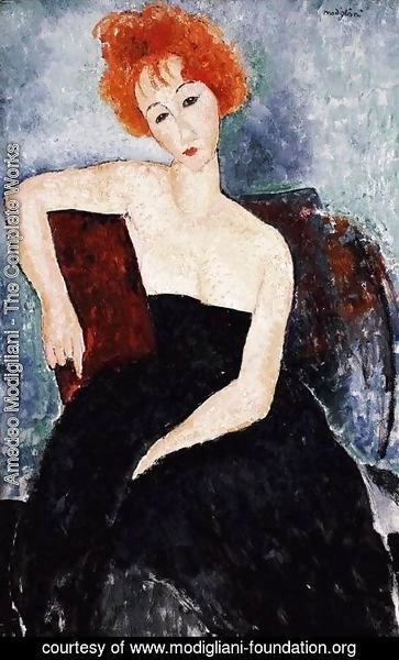 Amedeo Modigliani - Young Redhead in an Evening Dress