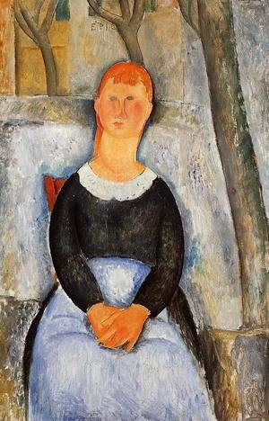 Amedeo Modigliani - The Beautiful Grocer