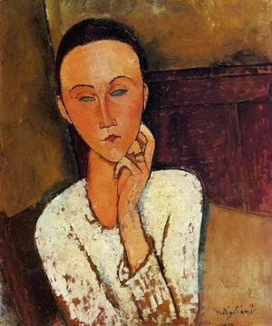 Amedeo Modigliani - Lunia Czechowska, Left Hand on Her Cheek