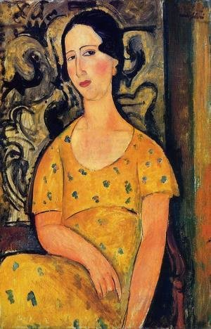 Amedeo Modigliani - Young Woman in a Yellow Dress