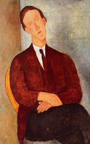Amedeo Modigliani - Portrait of Morgan Russell