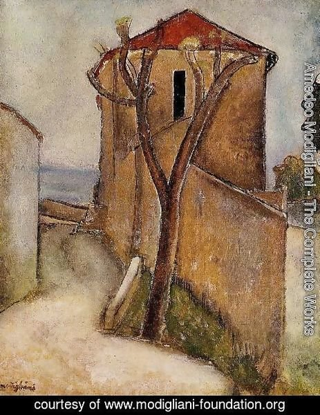 Amedeo Modigliani - Landscape in the Midi