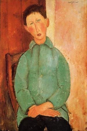 Amedeo Modigliani - Boy in a Blue Shirt