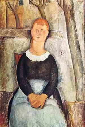 Amedeo Modigliani - The Pretty Vegetable Vendor
