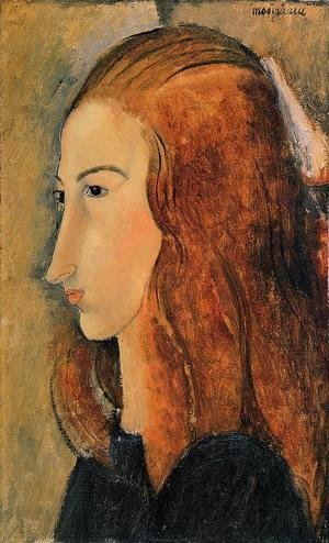 Amedeo Modigliani - Portrait of Jeanne Hebutern