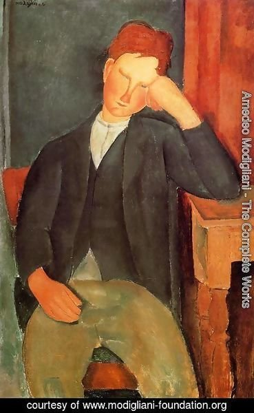 Amedeo Modigliani - Young Peasant