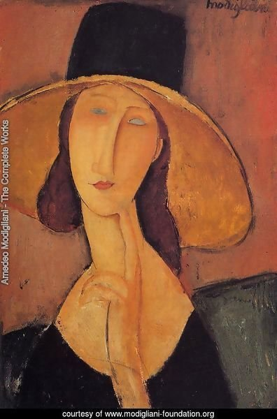 Jeanne Hebuterne in a Large Hat
