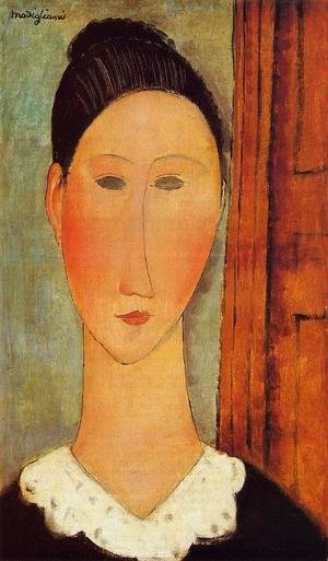 Amedeo Modigliani - Head of a Girl