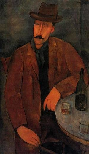Amedeo Modigliani - Man with a Glass of Wine
