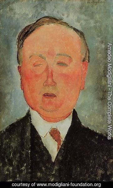 Amedeo Modigliani - Man in a Monocle Named Bidou