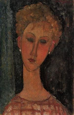Amedeo Modigliani - A Blond Wearing Earings