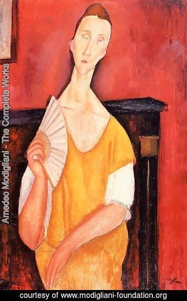 Amedeo Modigliani - Madame Lunia Czechowska with a Fan