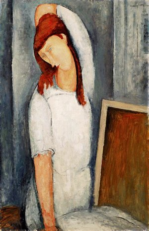 Amedeo Modigliani - Portrait of Jeanne Hebuterne, Left Arm Behind Her Head