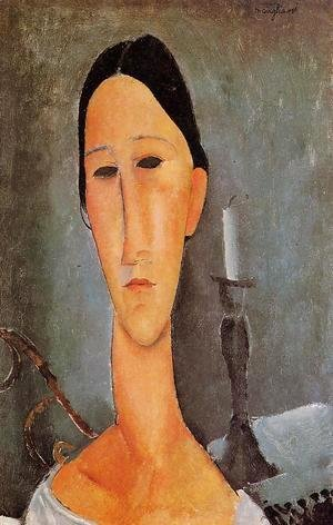 Amedeo Modigliani - Portrait of Anna Zborowska I