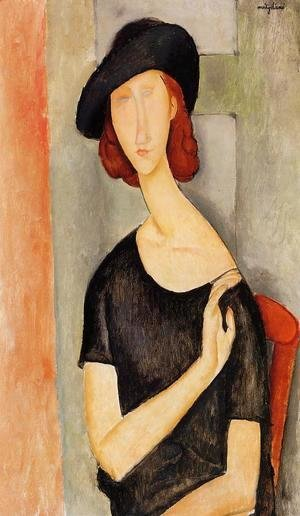 Amedeo Modigliani - Jeanne Hebuterne in a Hat