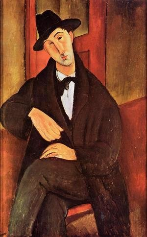 Amedeo Modigliani - Portrait of Mario Varvogli
