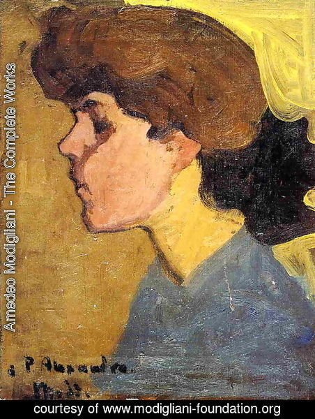 Amedeo Modigliani - Woman's Head in Profile