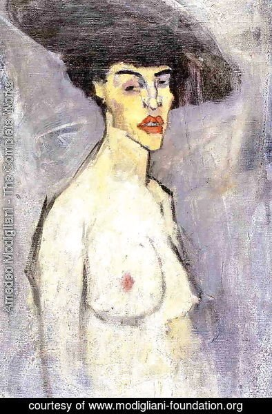 Amedeo Modigliani - Nude with Hat