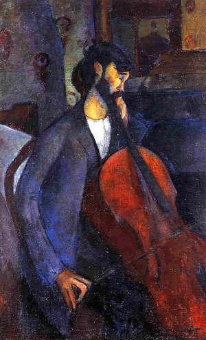 Amedeo Modigliani - The Cellist I