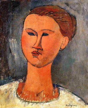 Amedeo Modigliani - Woman's Head III