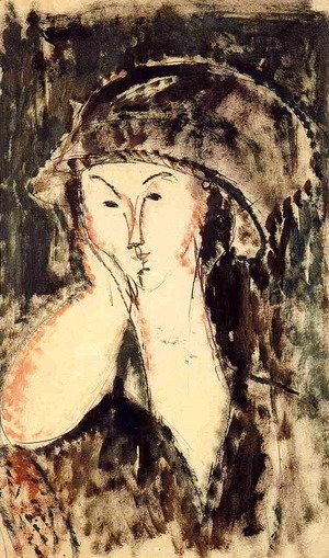 Amedeo Modigliani - Beatrice Hastings Leaning on Her Elbow