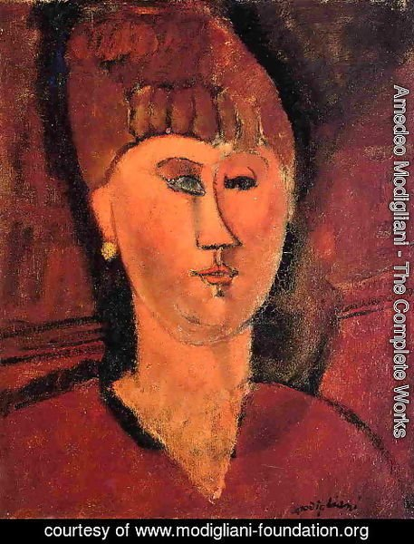 Amedeo Modigliani - Head of Red-Haired Woman