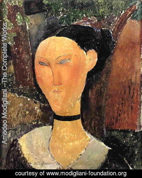 Amedeo Modigliani - Woman with Velvet Ribbon