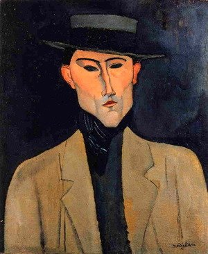 Amedeo Modigliani - Portrait of a Man with Hat