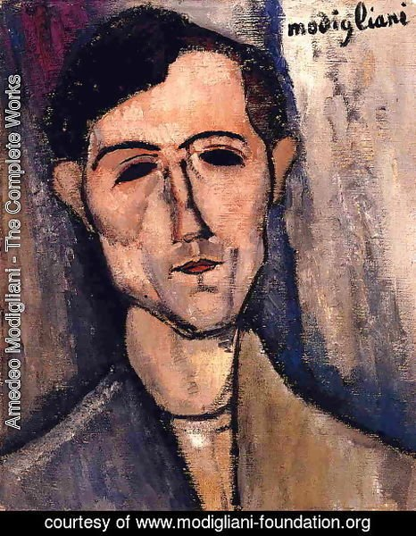 Amedeo Modigliani - Man's Head