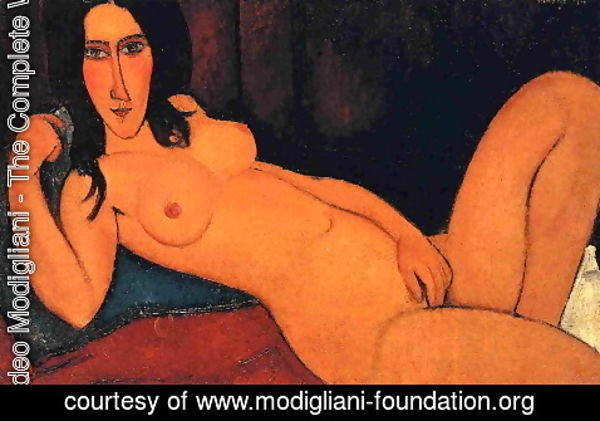 Amedeo Modigliani - Reclining Nude with Loose Hair