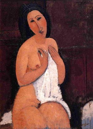 Amedeo Modigliani - Seated Nude with Shift