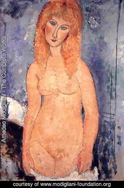 Amedeo Modigliani - Blonde Nude