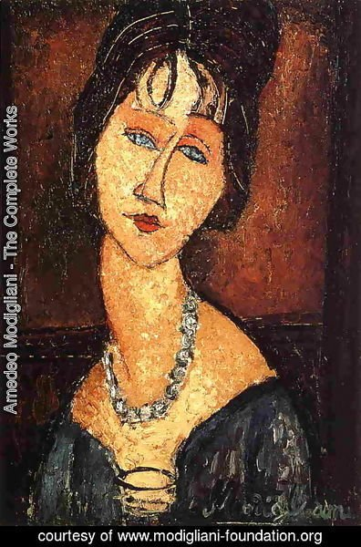 Amedeo Modigliani - Jeanne Hebuterne with Necklace