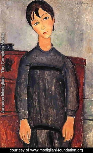 Amedeo Modigliani - Little Girl in Black Apron