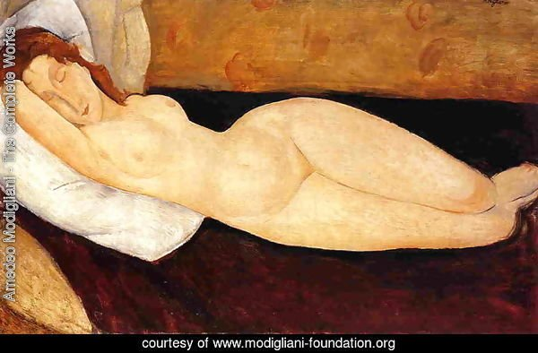 Reclining Nude, Head Resting on Right Arm