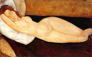 Amedeo Modigliani - Reclining Nude, Head Resting on Right Arm