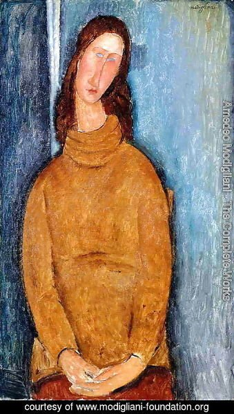 Amedeo Modigliani - Jeanne Hebuterne in a Yellow Jumper